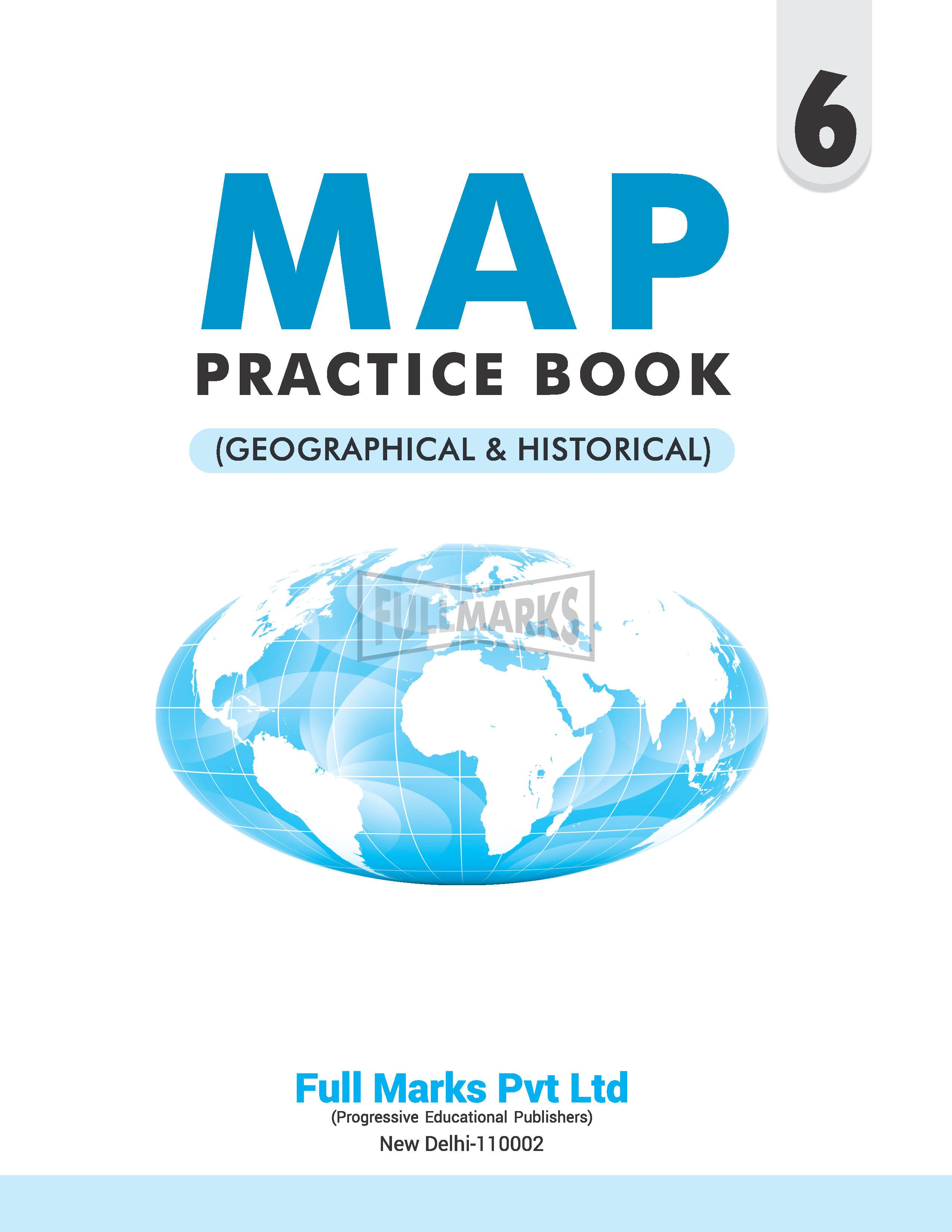 Map Practice Book Class 6