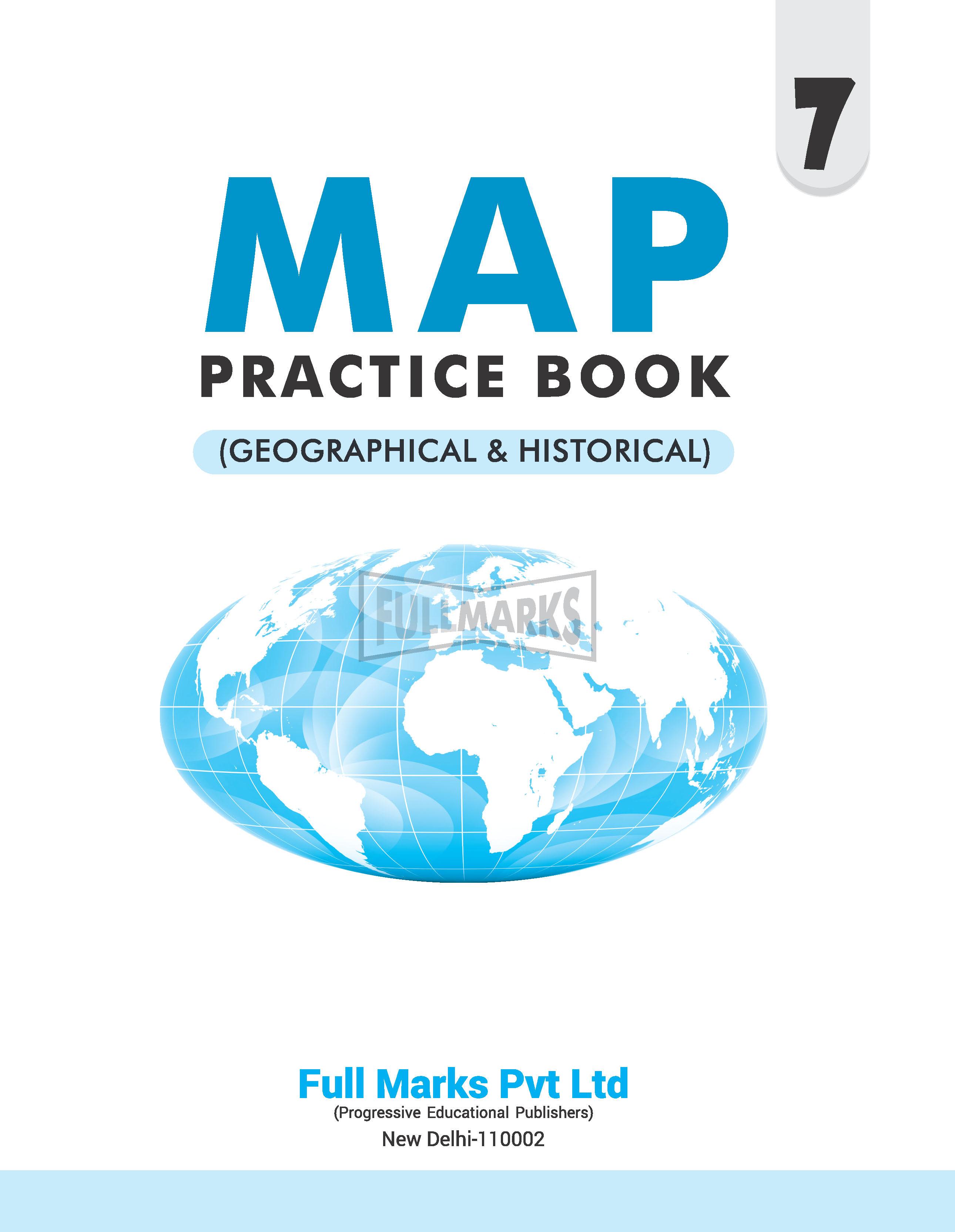 Map Practice Book Class 7