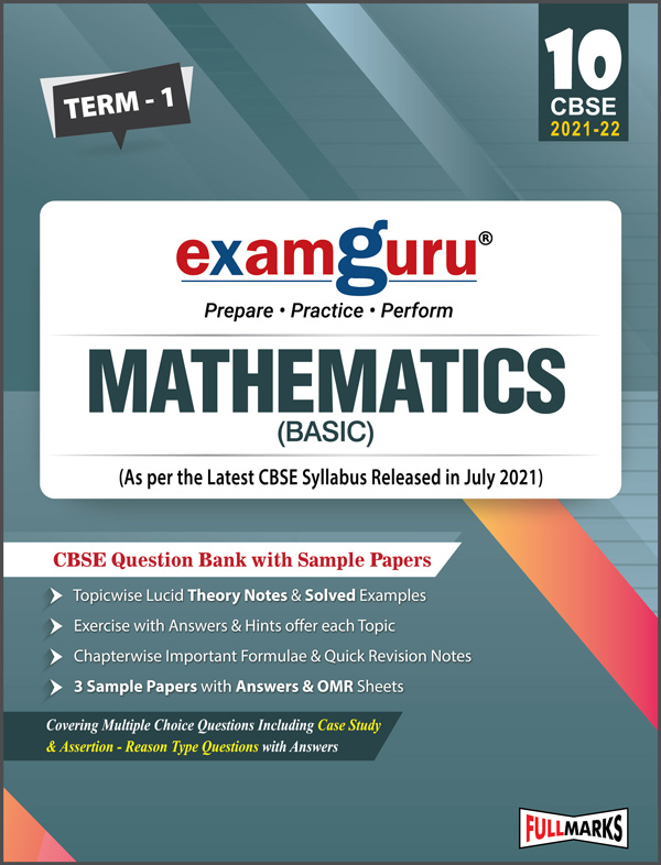 Examguru Mathematics (Basic) Question Bank with Sample Papers Term-1 (As per the Latest CBSE Syllabus Released in July 2021) Class 10